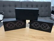 Kaws Son + Daughter Glasses Set Black Grey Pink. In Hand. Brand New. Ready To
