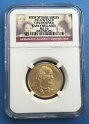 2014-w 10 Lou Hoover First Spouse Gold Ngc Ms70 Early Releases