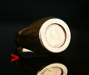 Thaler Austrian Unisex Coin Ring Solid 14k Rose Yellow Gold Coin Ring Ø Us 7.25
