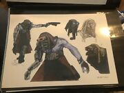 Star Wars Production Used Concept Art Lucasfilm Creature Thug Alien By Jake Lunt