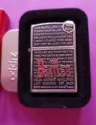 Beatles Collectible Zippo Lighter Song' Brand New In Box Mint Condition