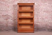 Antique Oak Four-stack Barrister Bookcase By Macey Circa 1920s