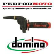 Domino Hr Cross Off Road 2t Throttle With Black/red Grips To Fit Suzuki Bikes