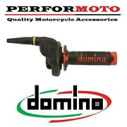 Domino Hr Cross Off Road 2t Throttle With Black/red Grips To Fit Road Bikes