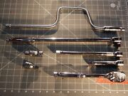Snap On 7pc 1/2 Dr Ratchet Speed Handle Universal Extension Set S80a Sn15b S8 S4