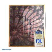 Vintage Golden Gothic Foil Puzzle Cathedral Of Notre Dame 500pc Sealed. 1971