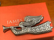 """James Avery Retired Sterling Sil Guardian Angel Pin Brooch Gift Box 2 3/4"""" 17 Gr"""