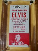 Elvis Presley Concert Ticket And Stub Rare Red Original 1975 New Years Eve