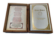 Holy Bible The Comfort Edition King James Version Wooden Box With Bible