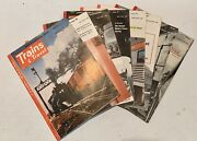 Trains And Travel 1953 Set Of 8 Magazines Travel By Rail Several Months
