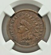 1876 Indian Cent Graded Xf-40 By Ngc Nice