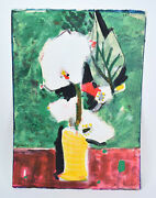 Vintage Mid-century Bernard Lorjou Abstracted Floral Still Life Painting French