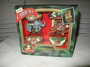 Vintage Mr. Christmas Carousel Ornaments Circus Animals String Of Tiger Elephant