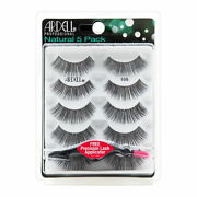 Ardell Natural Multipack Lashes 105 Black 5 Pack+free Precision Lash Applicator
