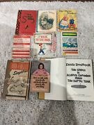 Lot Of 9 Antique Vintage Books From 1940s 1950s Erma Bombeck, Barbara Walthers