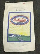 Lot Of 2 Vintage Cotton Seed Bags- Assorted Brands Blue Seeds And Perfection