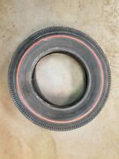 Firestone Super Sport Wide Oval D70-14 Red Line Tire Chevy Ford Gm Nos Vintage