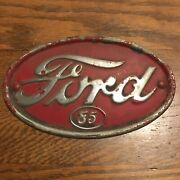 Antique 1936-38 Ford Tag Topper 85