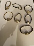 Lot Of 7 Vintage Art Deco 10k Rolled Gold Bulova Ladies Watches Not Running