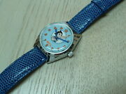 Astro Boy Wristwatch Hand- Winding Citizen Qandq 1970s Vintage From Japan Used