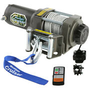 3500lb Atv Winch Utv 12v Electric Waterproof Kit W/ Mounted Switch And Steel Cable