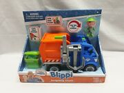New - Blippi Recycling Truck With 3 Blippi Figure And Recycling Bin