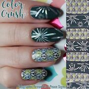 Color Crush Nail Polish Strips Custom Holographic Fireworks And Peace Signs