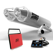 Hmf Can-am Commander 1000 2011 - 2013 Brushed Dual 3/4 Ctr Exhaust + Efi + Uni