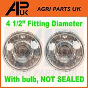 2x Halogen Front Headlamp Headlight For Ford 2600 3600 4600 5600 7200 Tractor