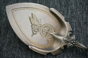 Whiting Bird On Nest Sterling Silver Pie Server With Butterfly - Vermeil Matte