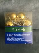 Cvs Brand Merry Bright 20 Count Battery Operated Led Christmas Gold Ornaments