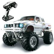 110 2.4g 4wd 3ch Full Metal Body 4x4 Pickup Truck Rock Wheel Rtr 320a Independe