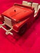 Hubley Jeep Red Jeep Series 1710 Made Usa Toy Early 70s