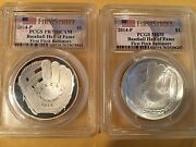 2014-p First Pitch Baltimore 1 Baseball First Pitch Pr70 And Ms70 Two 2 Coins