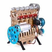 All-metal Car Mini Assemble Inline Four-cylinder Engine Model Toys For Adult