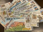 Complete Set Of 20 Fdc Collins Hand Painted - Legends Of The West Sc.2869 A-s