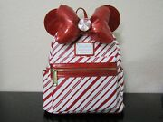 Loungefly Minnie Mouse Holiday Mini Backpack New With Tags