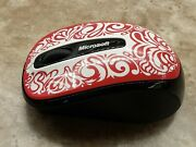 Microsoft Wireless Mobile Mouse 3500 White /pink Flowers Usb Included Pre Owned