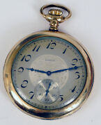 Antique Art Deco Asian Theme Face Dial Elgin Gold Filled Pocket Watch For Repair