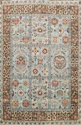 Vegetable Dye Garden Design Traditional Oriental Area Rug Hand-knotted Wool 8x10