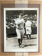 Vintage Charles Conlon Babe Ruth Photo Used For 1933 Goudey With Psa Letter