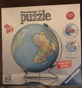 Ravensburger - The Earth - 3d Puzzle Ball - 540 Piece World Globe With Stand New