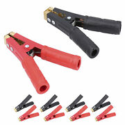 5 Pairs Car Battery Clamps Clip Red And Black 6.3 Cable For Charger Jump Starter