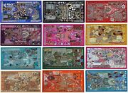 Lot Of 12pcs Christmas Wall Hanging Handmade Embroidered Vintage Beads Patchwork