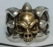 Bill Wall Leather Tribal Band Ring Silver 925 18k Skull California From Japan