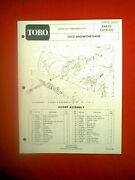 Toro 1032 2 Stage Snowthrower Snowblower Model 31995-500001 And Up Parts Manual