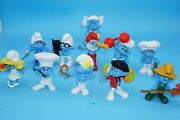 Lot Of 11 Smurfs 2011 Mcdonalds Smurf Figures