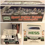 Hess Sport Utility Vehicle And Motorcycles 2004 Gas Station Collectible Nib Nos C