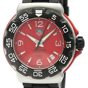 Tag Heuer Formula 1 Sports Wac1113 Quartz Stainless Rubber Menand039s Watch[b1208]