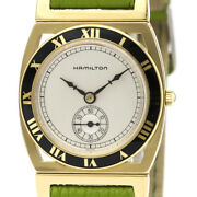 Hamilton 1920 Limited Gold Plated Leather Quartz Ladies Watch From Japan[b1208]